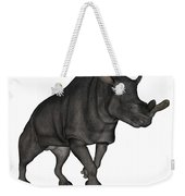 Brontotherium Isolated On White Weekender Tote Bag