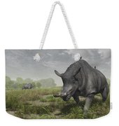 Brontotherium Wander The Lush Late Weekender Tote Bag by Walter Myers