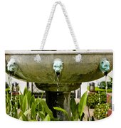 Bronze Civit Head Fountain Weekender Tote Bag
