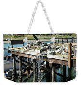 Bronze Eagle And Water Fall Weekender Tote Bag