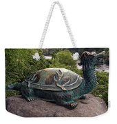 Bronze Turtle Dragon Sculpture Weekender Tote Bag
