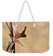 Bronzed Oak Leaf Horizontal Weekender Tote Bag