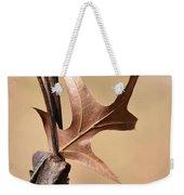 Bronzed Oak Leaf Vertical Weekender Tote Bag