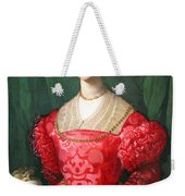 Bronzino's A Young Woman And Her Little Boy Weekender Tote Bag