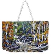 Brook Traversing Wood Weekender Tote Bag