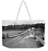 Brookfield, Vt - Floating Bridge 5 Bw Weekender Tote Bag
