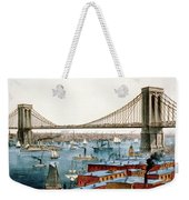 Brooklyn Bridge, 1872 Weekender Tote Bag