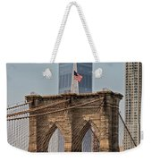 Brooklyn Bridge And One World Trade Center In New York City  Weekender Tote Bag