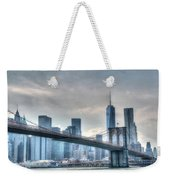 Brooklyn Bridge And The Lower Manhattan Financial District Weekender Tote Bag