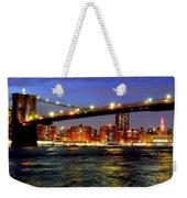 Brooklyn Bridge At Night Weekender Tote Bag