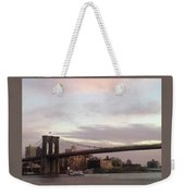 Brooklyn Bridge At Sunset Weekender Tote Bag