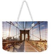 Brooklyn Bridge At Sunset, New York, Usa Weekender Tote Bag