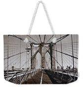 Brooklyn Bridge By Art Farrar Photographs, Ny 1930 Weekender Tote Bag