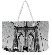 Brooklyn Bridge In Black And White Weekender Tote Bag