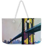 Brooklyn Bridge, N Y  Weekender Tote Bag