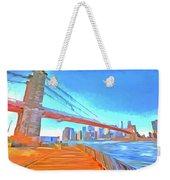 Brooklyn Bridge New York Pop Art Weekender Tote Bag