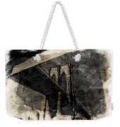 Brooklyn Bridge Reflection Abstract Weekender Tote Bag