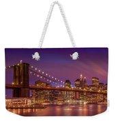 Brooklyn Bridge Sunset - Panorama Weekender Tote Bag