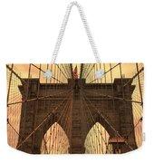 Brooklyn Bridge Sunset Weekender Tote Bag
