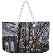 Brooklyn Bridge Thru The Trees Weekender Tote Bag