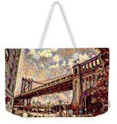 Brooklyn Bridge Watercolor Weekender Tote Bag