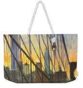 Brooklyn Bridge Wires Weekender Tote Bag