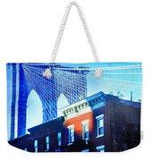 Brooklyn Bridge, New York City, December Weekender Tote Bag
