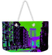 Brooklyn Green Weekender Tote Bag