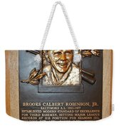 Brooks Robinson Hall Of Fame Plaque Weekender Tote Bag