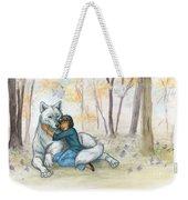 Brother Wolf - Dream Weekender Tote Bag by Brandy Woods