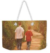 Brothers Into The Woods Weekender Tote Bag