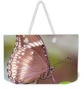 Brown Butterfly Weekender Tote Bag