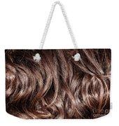 Brown Curly Hair Background Weekender Tote Bag