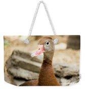 Brown Duck Portrait Weekender Tote Bag