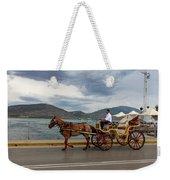 Brown Horse Drawn Carriage Weekender Tote Bag