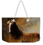 Brown Horse Pose Weekender Tote Bag