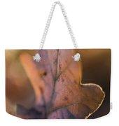 Brown Leaf Weekender Tote Bag