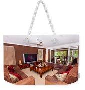 Brown Living Room Weekender Tote Bag