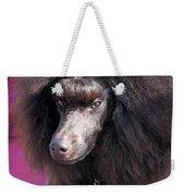 Brown Medium Poodle Weekender Tote Bag