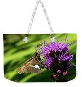 Brown Moth On Pink Weekender Tote Bag