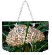 Brown Mushroom Squared Weekender Tote Bag