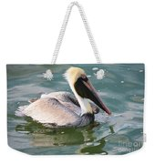 Brown Pelican In The Bay Weekender Tote Bag