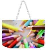 Brown Pencil Weekender Tote Bag