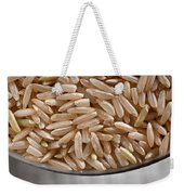 Brown Rice In Bowl Weekender Tote Bag