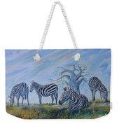 Browsing Zebras Weekender Tote Bag