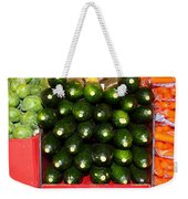 Brussel Sprouts , Cucumbers And Carrots Weekender Tote Bag
