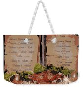Brussels Menu - Digital Weekender Tote Bag