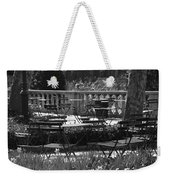 Bryant Park In Black And White Weekender Tote Bag