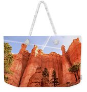 Bryce Canyon Hoodoos With Contrails Weekender Tote Bag