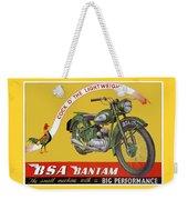 Bsa Bantam Motorcycle Weekender Tote Bag